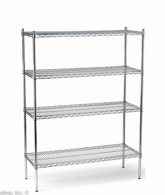 commercial restaurant wire shelves chrome