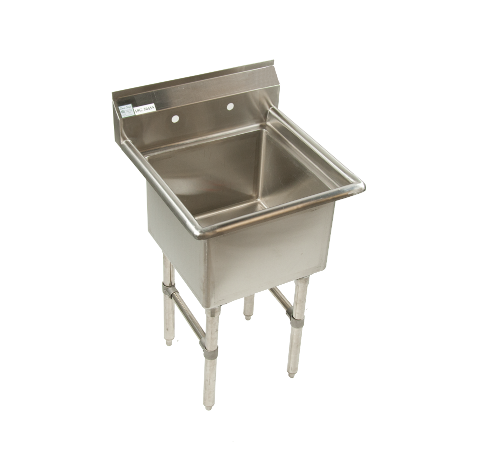 1 compartment commercial prep sink