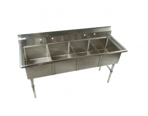 4 compartment stainless steel kitchen sink