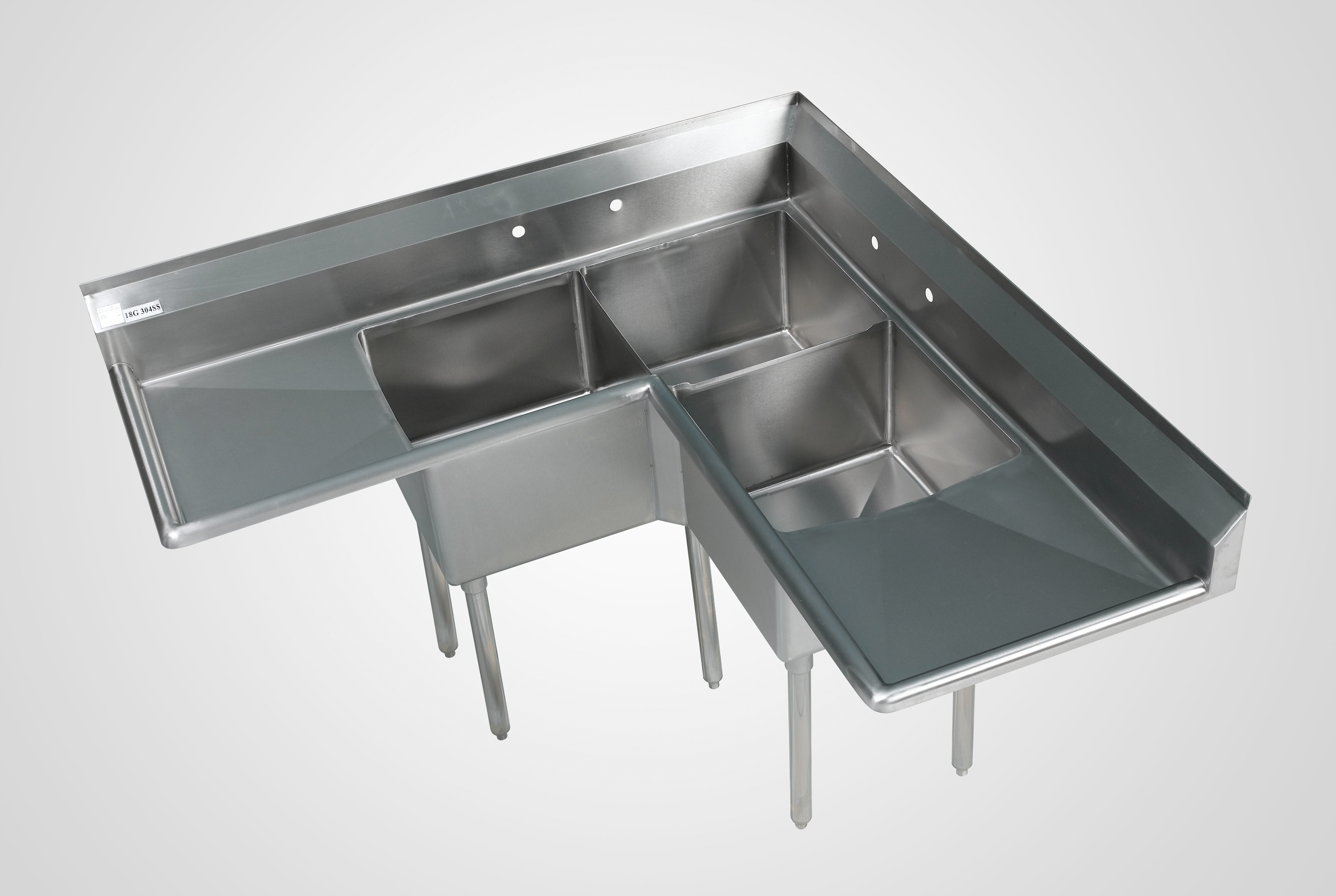 3 Compartment Stainless Sinks 3 Bowl Commercial Kitchen