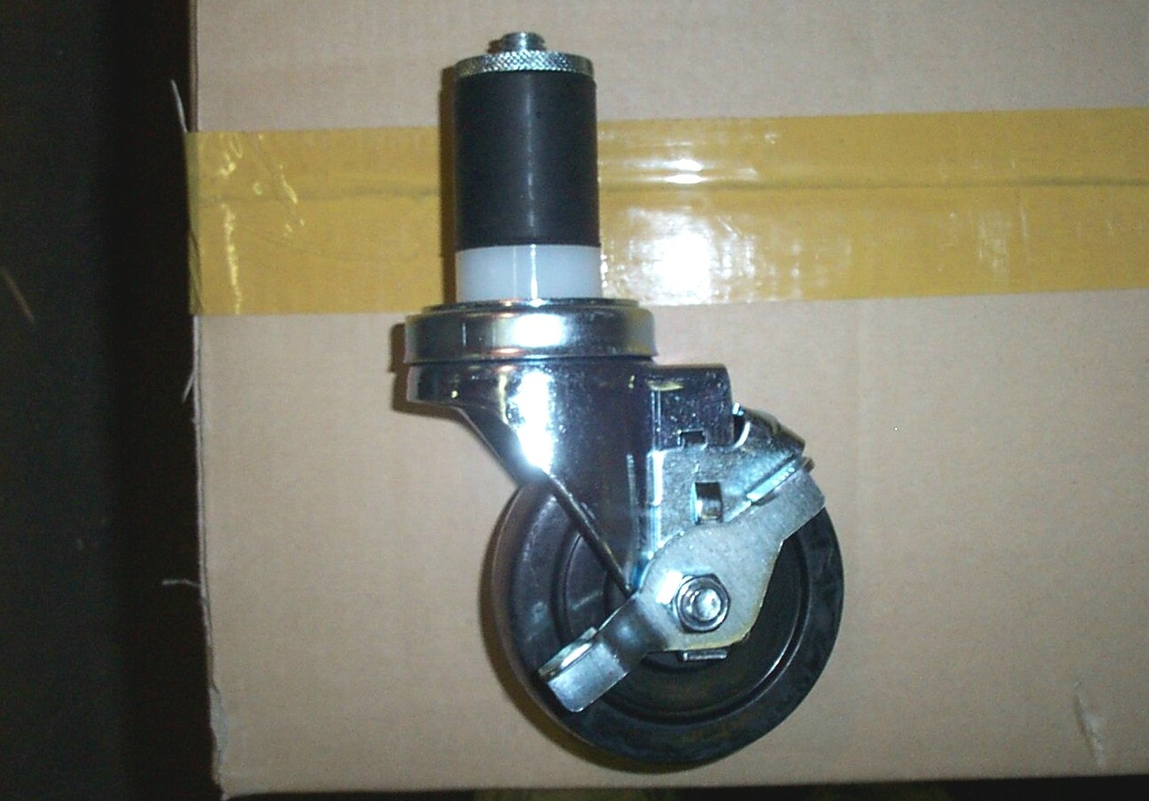 caster wheels for stainless steel work table