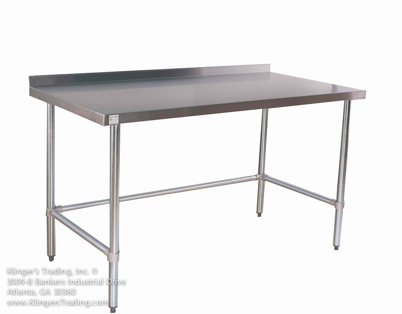 Industrial kitchen table stainless steel stainless steel kitchen stainless work tables with backsplash all stainless prep workwithnaturefo