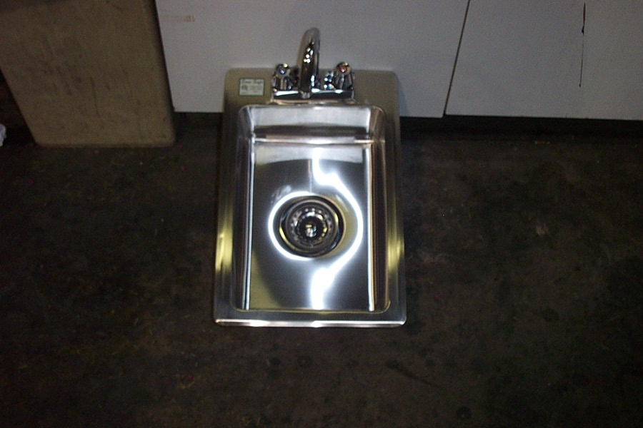 1 compartment stainless steel drop in hand sink