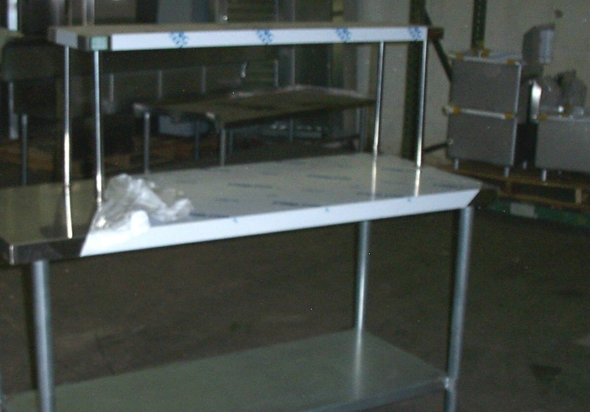 stainless steel commercial overshelves