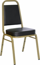black vinyl commercial stacking chairs