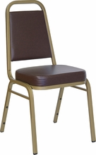 brown vinyl commercial stacking chairs