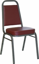 burgundy vinyl commercial stacking chairs