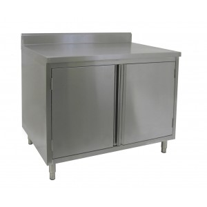 stainless steel commercial storage cabinet back splash