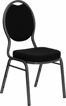 commercial fabric stack chairs black
