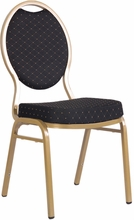 commercial fabric stacking chairs black