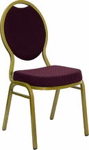 commercial fabric stack chairs burgundy